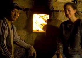 me & sensei at the kiln